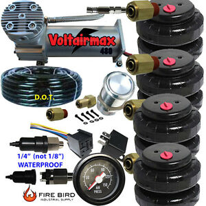 480c Air Compressor Ride Kit 200psi Rate All Pictured 4 2500 Airspring Bags Gaug