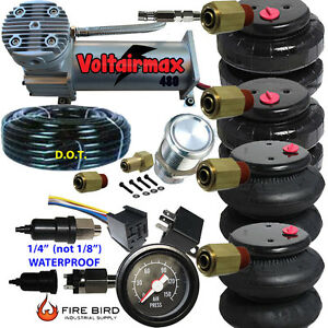 480c Air Compressor Ride Kit 200psi Rate As Pictured 2 25 26 Airspring Bags Gaug