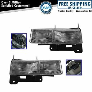 Headlamps Headlights Left Lh Right Rh Pair Set Of 2 For Chevy Pickup Truck