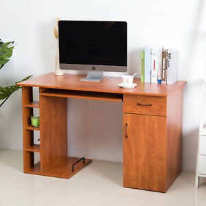 Homcom Computer Desk Pc Table Workstation Printer Shelf Home Office Furniture