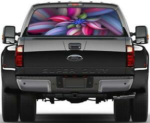 Colorful Abstract Flower 002 Rear Window Graphic Decal Sticker Car Truck Suv 350