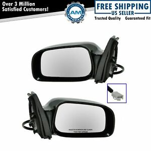Power Side View Mirrors Left Right Pair Set New For 03 08 Matrix Vibe