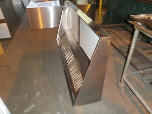 8 Ft concession Type L Commercial Kitchen Exhaust Hood W Blower