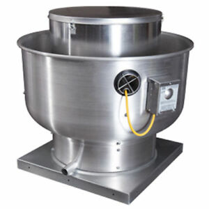 Restaurant Commercial Kitchen Exhaust Blower For 14 Foot Hood