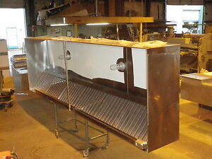 16 Ft Type L Commercial Kitchen Restaurant Exhaust Only Hood New