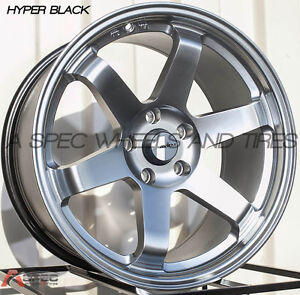 Avid 1 Av 06 18x9 5 Wheels 5x114 3 38 Hyper Black Rim Fits Mazda Speed 3 Tc