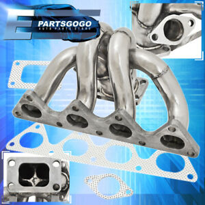 Civic B16 B18 B Series Engine T3 Flange Stainless Steel Exhaust Turbo Manifold