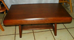 Yugoslavian Made Mahogany Mid Century Modern Coffee Table Rp Ct72