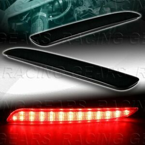 Smoke Lens Led Rear Bumper Reflector Brake Lights Lamps Fit 10 13 Mazda3 Mazda 3