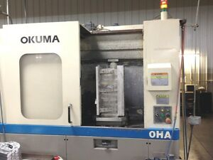 Used Okuma Ma 40ha Cnc Horizontal Mill 2003 16 Pallets 22 24 25 Hmc Mb 4000h