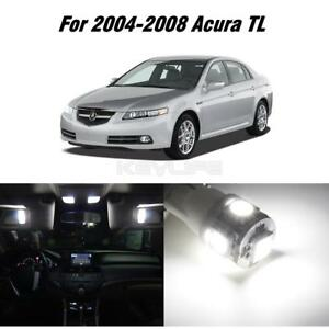 12x Xenon White Led Package Kit Bulbs Car Interior Lights For 2004 2008 Acura Tl