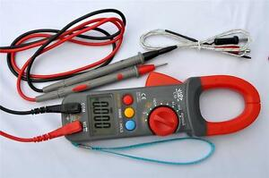 Digital Clamp Meter Ammeter Multimeter Dmm capacitor Tester k Thermocouple Hvac