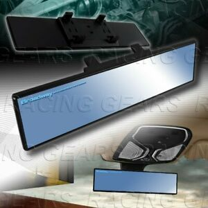 Broadway 300mm Wide Flat Blue Tint Interior Clip On Rear View Mirror Universal 1