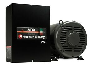 Extreme Duty American Rotary Phase Converter Adx25 25 Hp Digital Smart Series