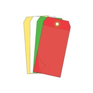 self Laminating Tags 6 1 4 x3 1 8 Red 100 case