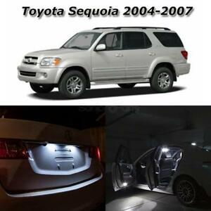 For 2004 2007 Toyota Sequoia White Led Interior Lights Package Deal