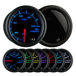 Glowshift Tinted 52mm Universal 7 Color Oil Pressure Gauge 0 100 Psi
