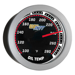 Glowshift 52mm Universal Tinted Oil Temperature Gauge 100 280f