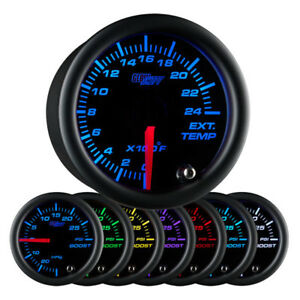 Glowshift Black 7 Color F Exhaust Gas Temperature Gauge 0 To 2400 Fahrenheit