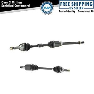 Cv Axle Shaft Assembly Front Outer Pair Set Of 2 For Altima Sentra Rogue Fwd