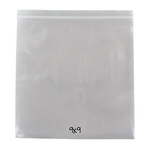 Reclosable Reusable Ziplock Poly Bag Clear 4 Mil 9 X 9 500 Bags