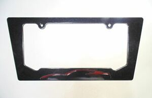 16 17 Corvette C7 Long Beach Red Metallic License Plate Frame Carbon Flash Black