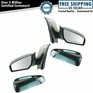 Black Power Side View Door Mirrors Left right Pair Set For 07 12 Nissan Sentra