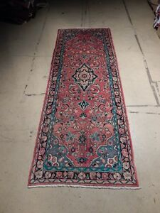 Rust Red 4 X 11 Low Price Rugs Semi Antique Persian Hand Woven Kashan