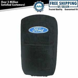 Oem Center Console Cover Black Cotton Terry Velour For Ford Pickup Truck New