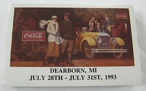 Coca Cola Playing Cards -1993 Dearborn  MI.- Sealed - Very Limited National Conv