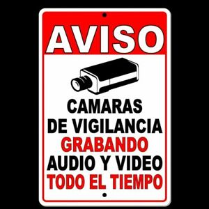 Spanish Warning Protected By Video Surveillance Sign Security Camera Ss002