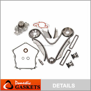 02 06 Chrysler 300 Dodge 2 7l Timing Chain Water Pump Tensioner Kit Cover Gasket
