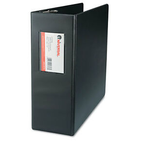 6 Universal D ring Binders With Label Holder 4 Capacity 8 1 2 X 11 Black