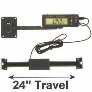 Igaging Absolute Dro Digital Readout 24 600mm Read Out Stainless Steel Beam