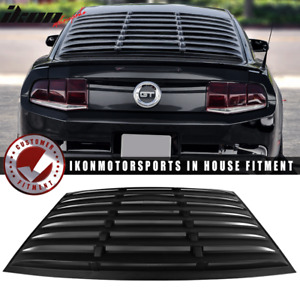 Fits 05 14 Ford Mustang Gt V6 V8 Window Louver Rear Cover Matte Black Abs