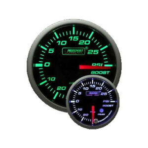 Prosport 52mm Premium Series Digital Green white Boost Turbo Gauge