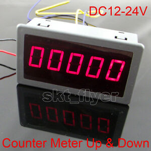0 56 Red Led Digital Reversible Counter Meter Up Down Dc12 24v High Quality