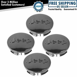 Oem Wheel Rim Center Cap Cover With Logo Set Of 4 For Jeep Patriot Compass New