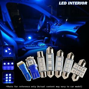 7pcs Interior Car Led Lights Kit For 2001 2005 Honda Civic Coupe Sedan Blue