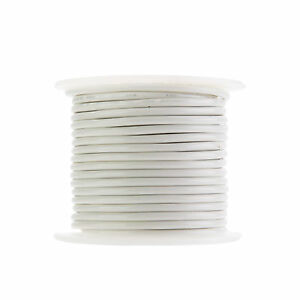 12 Awg Gauge Stranded Thhn Wire White 100 Ft 0 128 600 Volts Building Wire