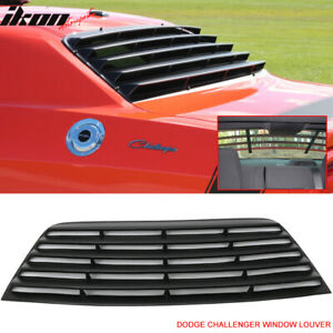 Fits 08 16 Dodge Challenger Window Louver Rear Cover Unpainted Black Pur