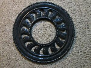 Antique Cast Iron Round Ornate 2 Pcs Floor Wall Register 16