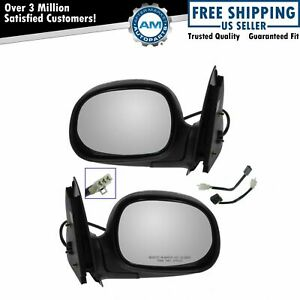 Chrome Black Power Side Mirrors Left Lh Right Rh Pair Set For Ford Pickup