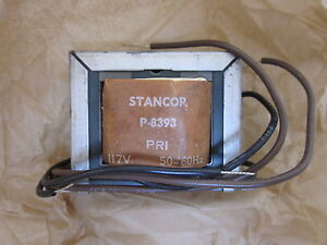 Lot Of 2 Stancor Miniaturized Control Transformers P 8393