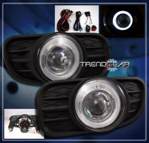 1999 2003 Jeep Grand Cherokee Halo Projector Bumper Clear Fog Lights Harness Kit