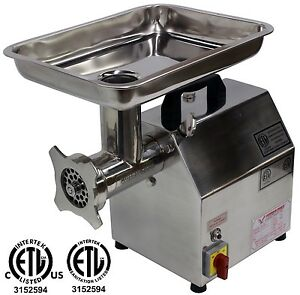 new American Eagle Ae g12n 12 1hp Stainless Steel Commercial Meat Grinder