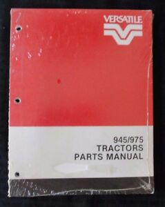 Original Ford Versatile 945 975 Tractor Parts Catalog Manual Mint Shape Sealed