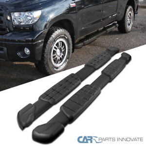 For 07 17 Tundra Double Cab Black Factory Style Side Step Bars Running Boards