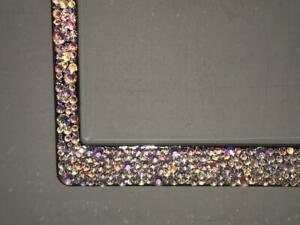 Ab Aurora Borialis Crystal Bling License Plate Frame Made With Swarovski Element