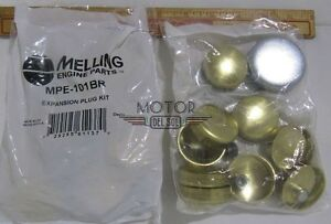 Mel Mpe 101br Sbc Small Block Chevy 400 Brass Engine Freeze Frost Plug Kit